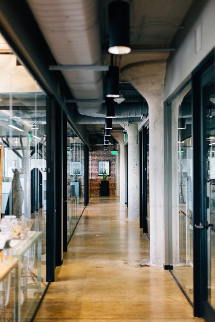 Industriele kantoor interieur