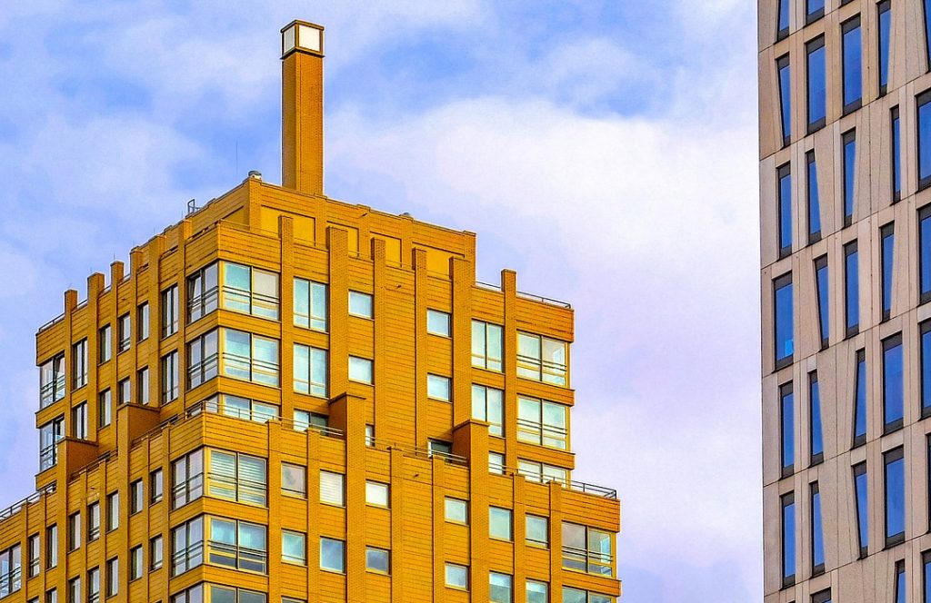 moderne kantoorgebouw toren nederland